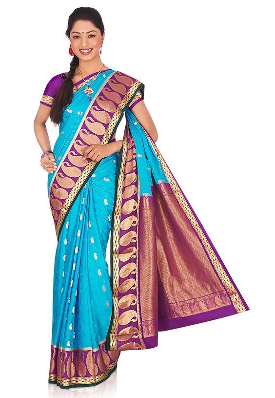 sky blue pure mysore silk saree with blouse online shopping scx22a saree man pinterest. Black Bedroom Furniture Sets. Home Design Ideas