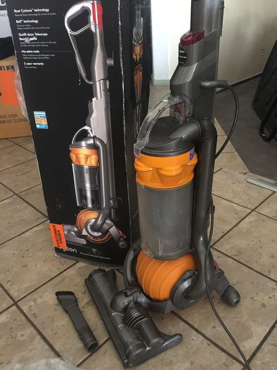 Dyson DC25 Multi Floor Upright Vacuum Cleaner Yellow | EBay