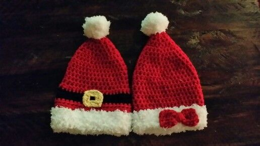 Preemie Christmas hats