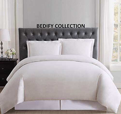 Bedify 100 Organic Cotton 500 Thread Count Hypoallergenic Hotel Design Soft Decorative 88x88 Inch Full Full Xl Queen With Images Solid Duvet Hotels Design Duvet Covers