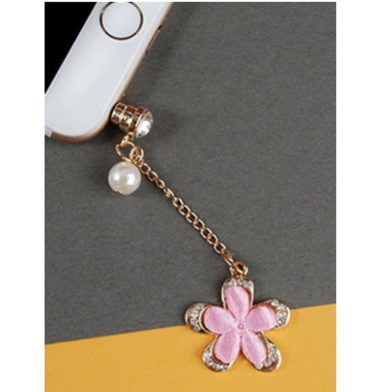 Flower Dangle Dust Plug  Flower Dangle Dust Plug. Available In Color Blue. 3 Available Coming Soon . Compatible With All Phones And Tablets Accessories