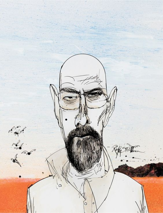 Season 1: Walter White - Ralph Steadman's Breaking Bad Blu-Ray covers