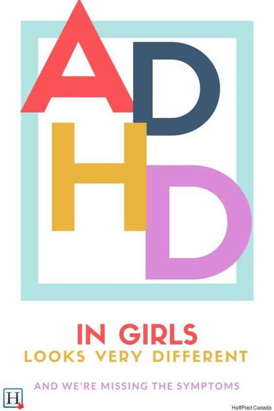 ADHD is often missed or misdiagnosed in girls. ADHD looks different in most girls than it usually looks in boys.: