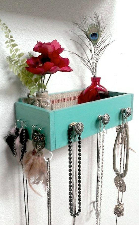 Schmuck Ständer selber machen Schublade aquamarine | Zukünftige ...