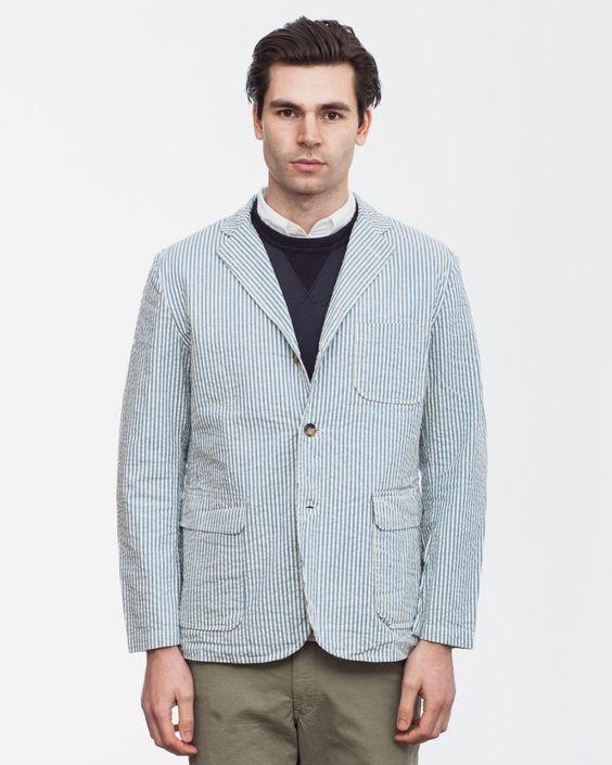 Seersucker Shirt Jacket
