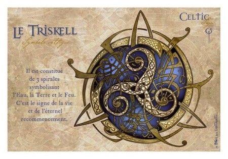 LE TRISKEL CELTIQUE - HISTOIRE DU TRISKEL