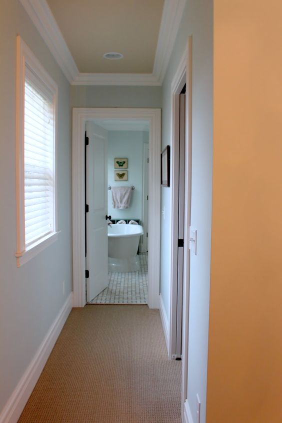 Love The Color Combination Of The Walls Sw Sea Salt And