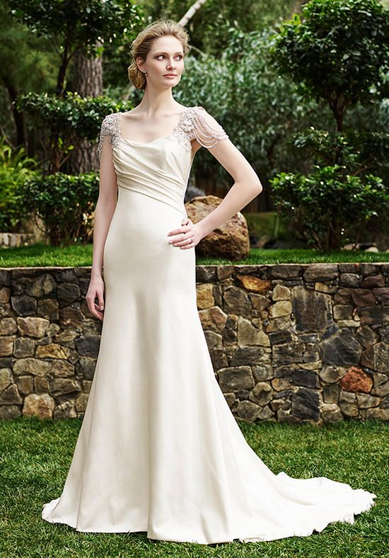 Casablanca Bridal gown with sweetheart neckline, sheath silhouette, and beaded embellishments I Style: 2253 Olive I https://www.theknot.com/fashion/2253-olive-casablanca-bridal-wedding-dress?utm_source=pinterest.com&utm_medium=social&utm_content=july2016&utm_campaign=beauty-fashion&utm_simplereach=?sr_share=pinterest