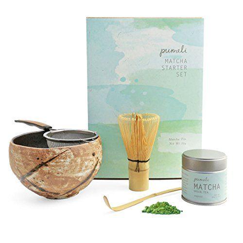 Matcha Tea Gift Set With Strainer Bowl To Make Japanese Green Tea