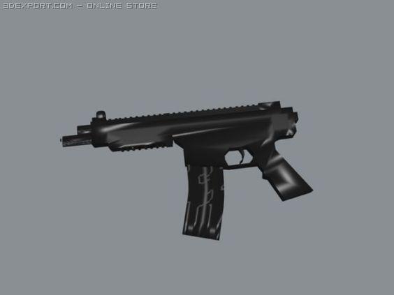 3D Model Submachine Gun c4d, obj, 3ds, fbx, ma, lwo 28173