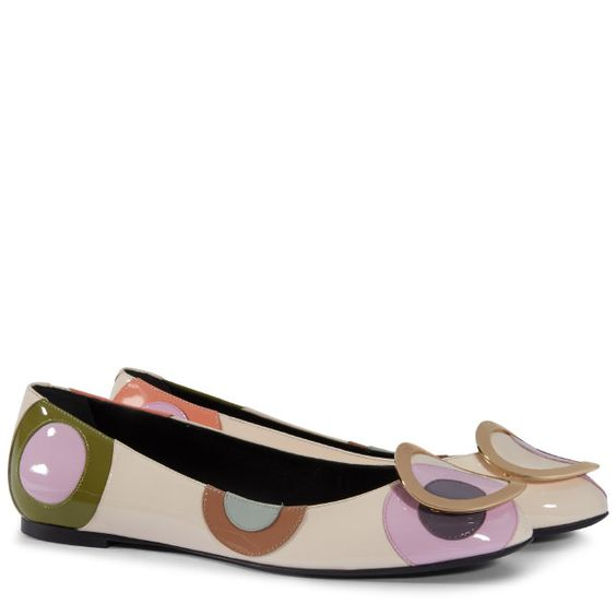 Round Belle Ballet Flats in Patent Leather - 2