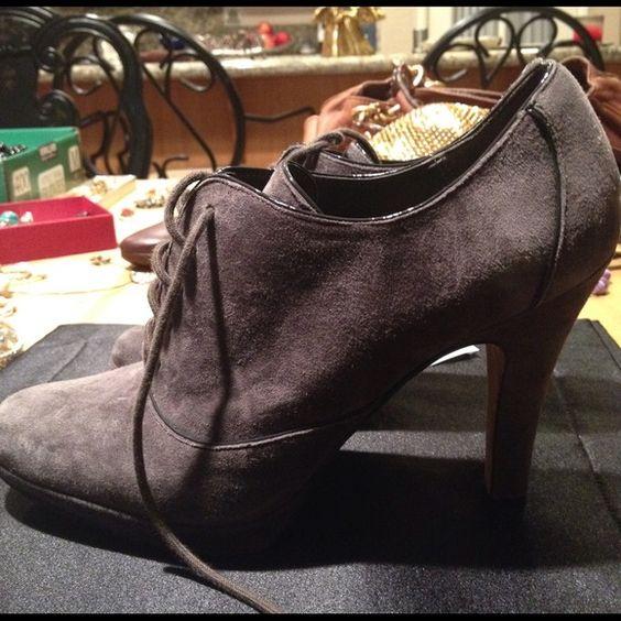 Circa Joan & David Grey Booties Circa Joan & David Booties. Grey Suede w/ front tie. Circa Joan & David Shoes