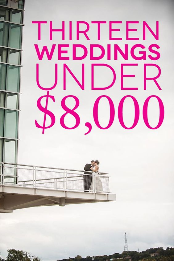 Thirteen gorgeous budget weddings to get you inspired to plan your own awesome budget wedding.
