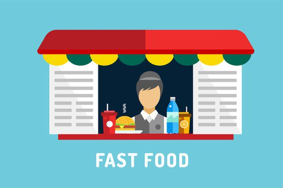 Fast food objects icons set by Vector-Stock on Creative Market
