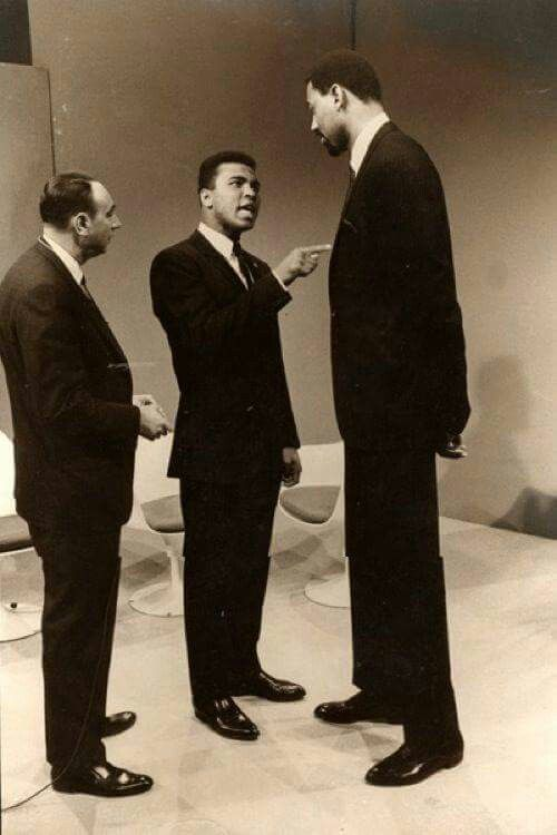 Howard Cosell, Muhammad Ali and Wilt Chamberlain...