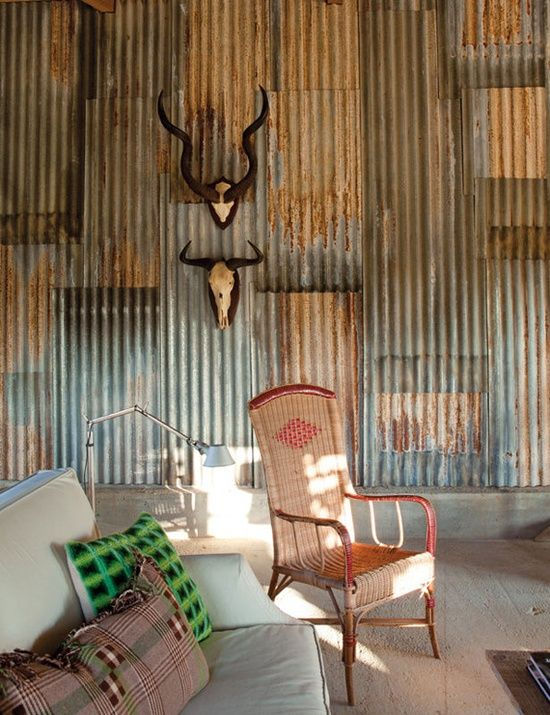 How To Install A Corrugated Metal Accent Wall: Industrial, Corrugated Metal And Iron Wall
