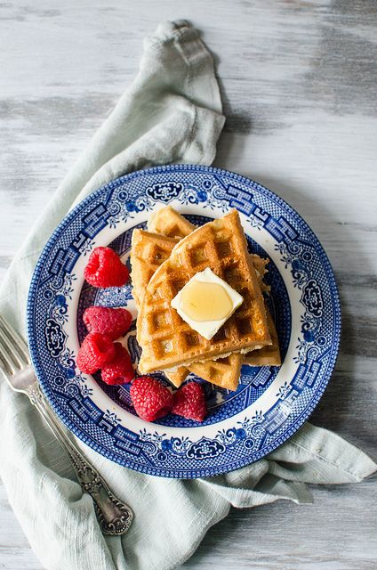 Brown Butter Waffles 2 by Pink Parsley Blog, via Flickr | Breakfast ...
