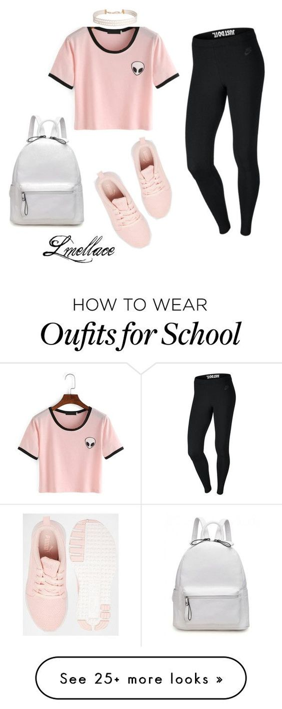 """School days!"" by lmellace on Polyvore featuring NIKE, Puma and Humble Chic"