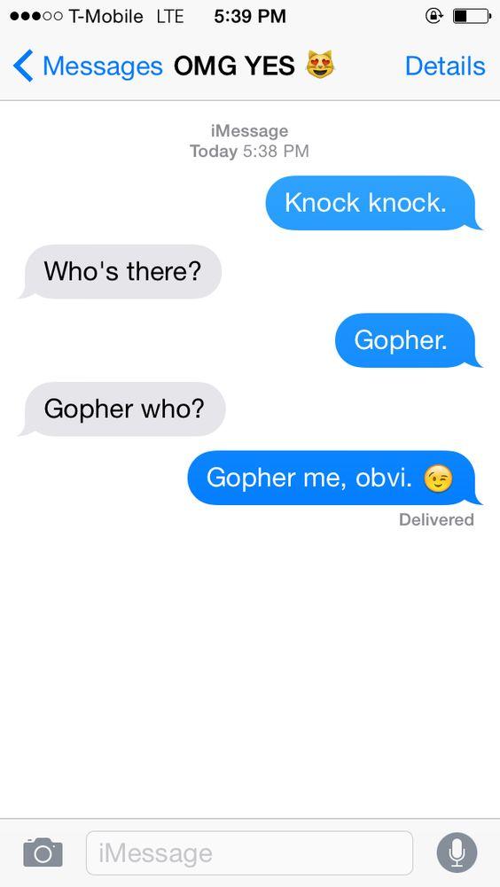 Texts to start a conversation