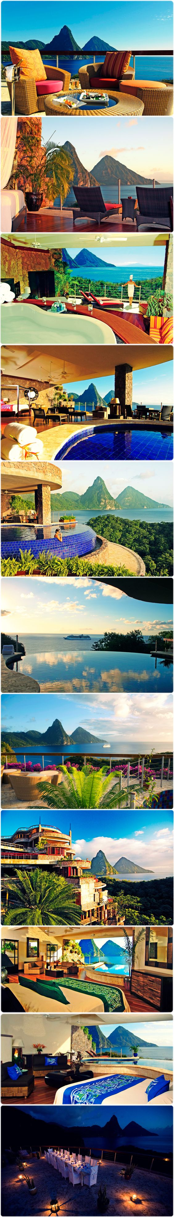 """Jade Mountain Resort Hotel, Soufriere! >>> http://www.otel.com/hotels/jade_mountain_resort_hotel_soufriere.htm?sm=pinterest  Use the code """"UPYRPW15"""" while making your reservation on otel.com, get 10% #discount"""
