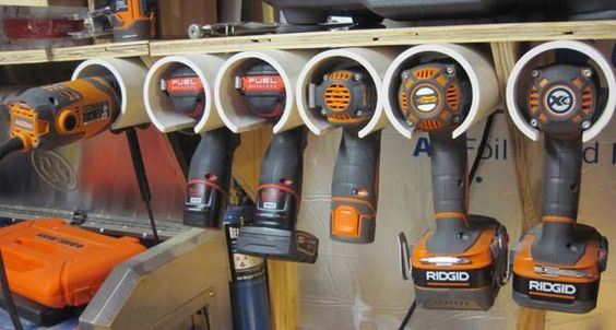 Drill Storage mount the tubes and fill them up
