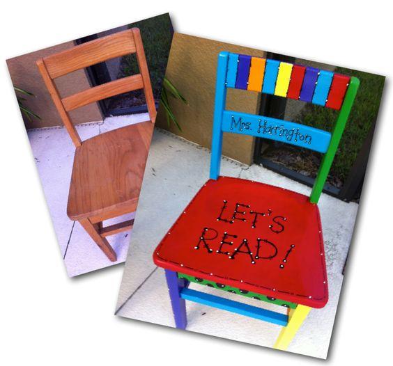 Transform An Old Wooden Chair Into A Nifty Little Teacher
