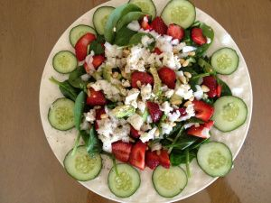 Strawberry Spinach Salad, packed with folic acid