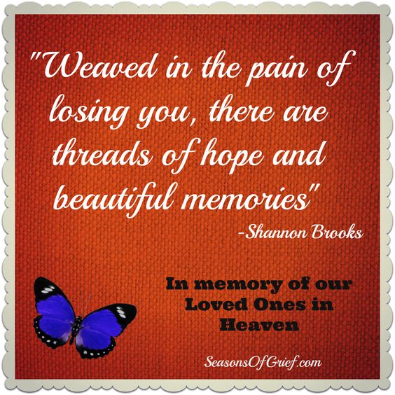 """Weaved In The Pain Of Losing You, There Are Threads Of"