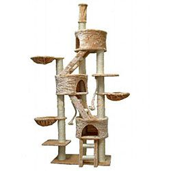 @Overstock - Your cat will enjoy this durable cat tree and bed furniture. With a ladder and scratch posts covered with natural sisal rope, your cat can lounge and play in this cat furniture for hours.http://www.overstock.com/Pet-Supplies/Huge-Cat-Tree-Condo-House-Scratcher-Furniture/5098577/product.html?CID=214117 $139.82