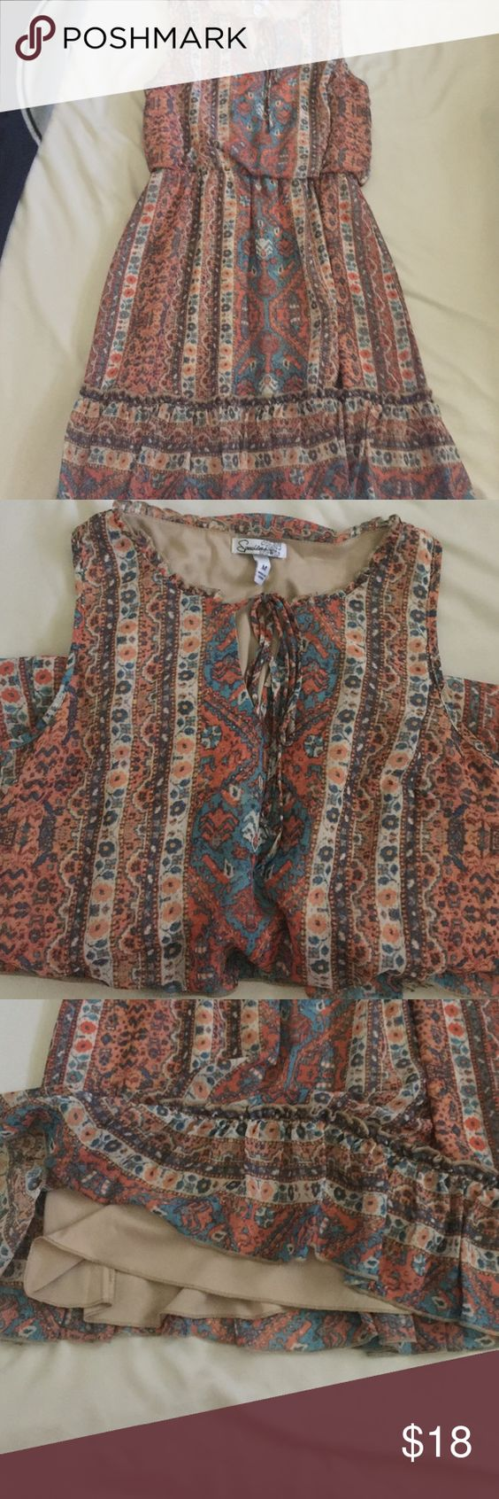 Casual dress size M Worn once , still in new condition. Size M . Multi/color Speechless Dresses Mini