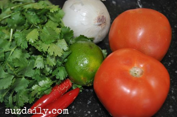 5 minute salsa.  A family favorite... what to do with all the wonderful tomatoes that are in season.