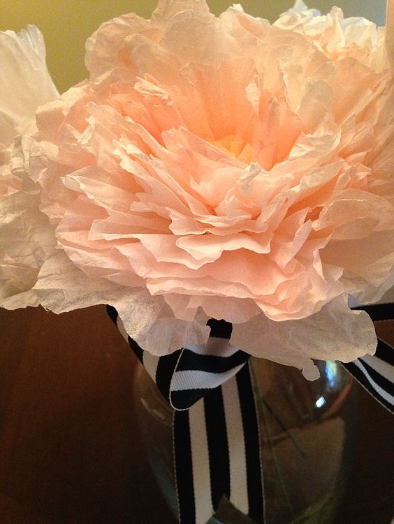 Make This:  Coffee Filter Peonies