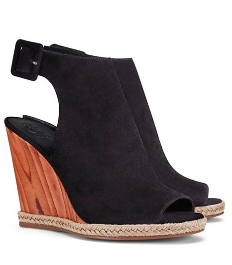 loving these wooden wedge sandals