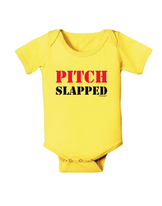 TooLoud Pitch Slapped - Pink Baby Romper Bodysuit