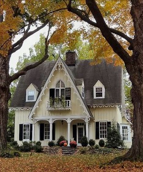 Yellow Cottage Gardening Daily Houses Pinterest