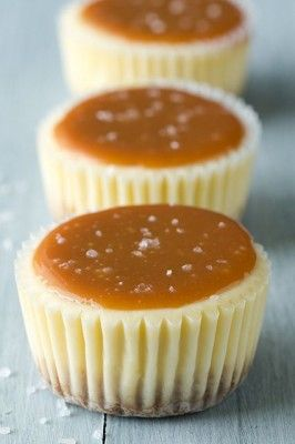 Salted Caramel Cheesecake Cupcakes, perfect :)