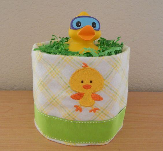 Ducky The Duck Baby Shower Theme Diaper Cake Centerpiece