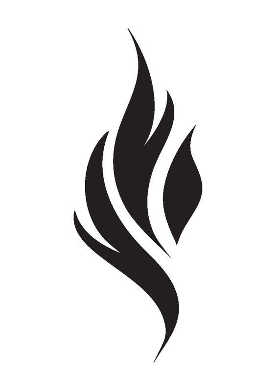 Flammen Basteln Vorlage