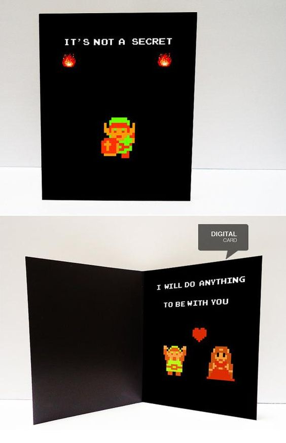 Awesome Valentines Day Cards for Everyone in your Life – Legend of Zelda Valentine Card