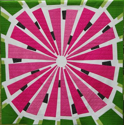 Ahhh...Quilting: Watermelon Wedge Quilt - what a cute summer quilt, with an adorable back!