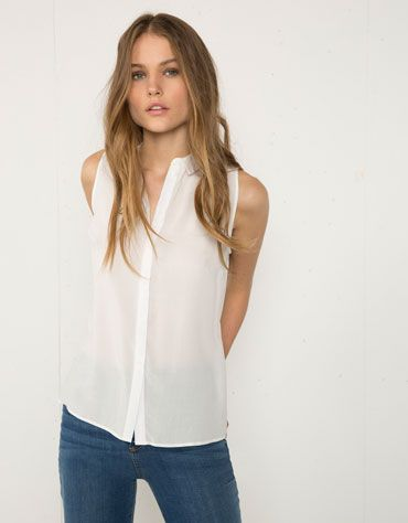 Camisa Bershka corte lateral - Bershka - Bershka Colombia