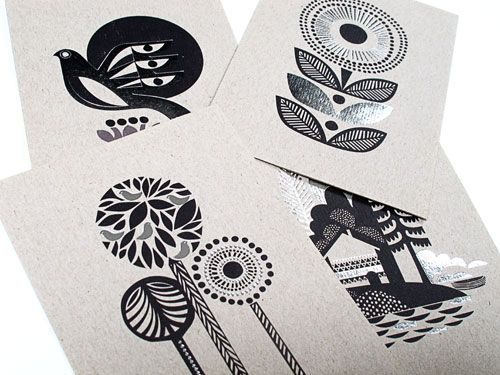 USA--nineteenseventythree--Blank note cards printed with vegetable inks and on 100% recycled pulp.