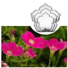 Neueste 3 Teile/satz Petunia Kuchen Formen Edelstahl Blume Blütenblatt Kuchen Fondant Schneider Sets DIY Küche Backen Dekorieren Tools(China (Mainland))