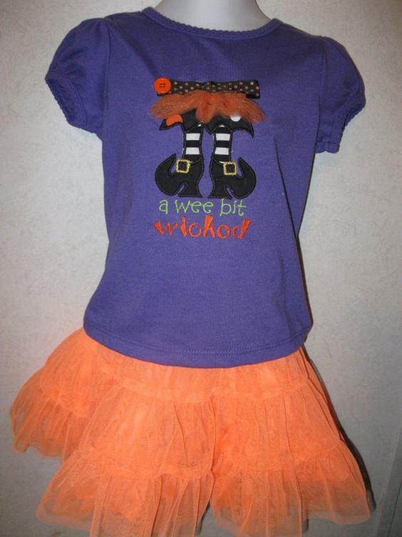 Halloween Wee Bit Wicked Cute Witch Feet Tutu by rowanmayfairs, $26.00