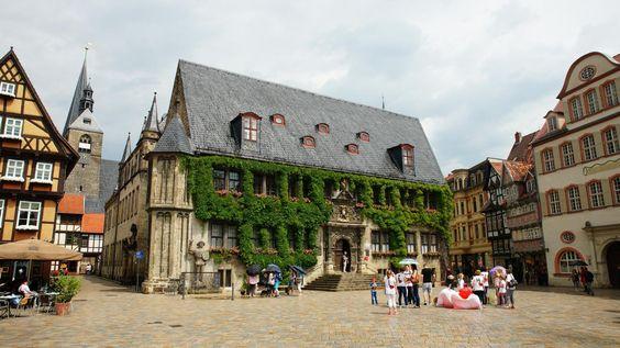 Rathaus am Marktplatz in Quedlinburg