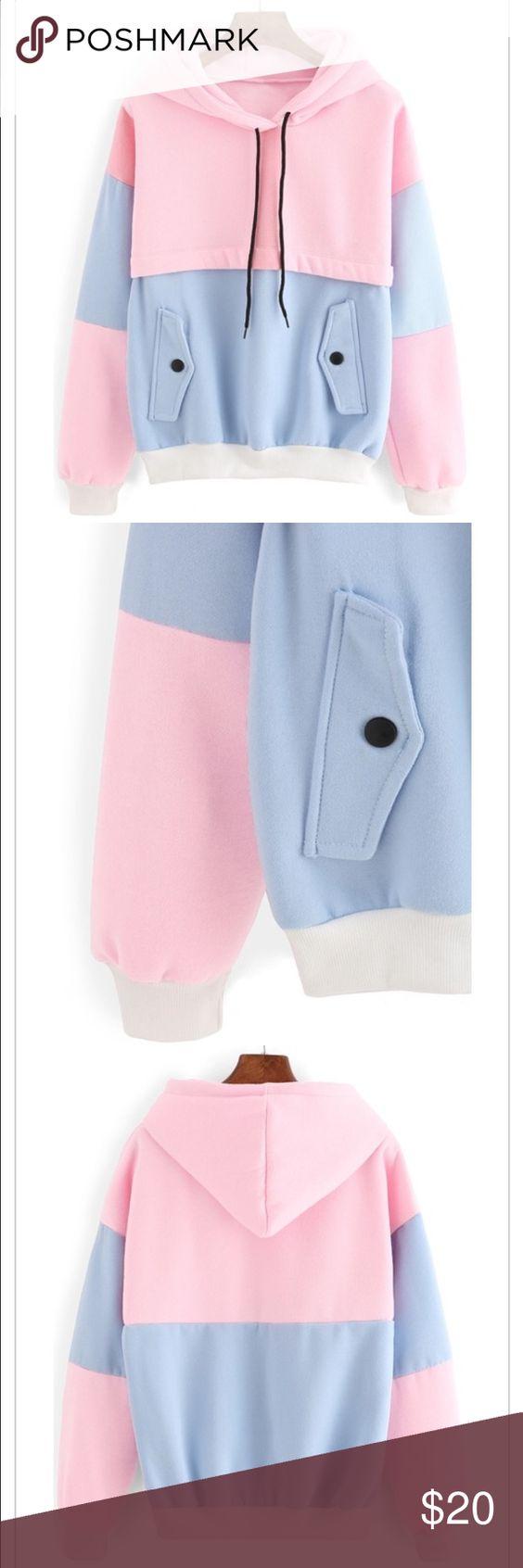 color block sweatshirt! super cute, NEVER worn w/ tags Sweaters