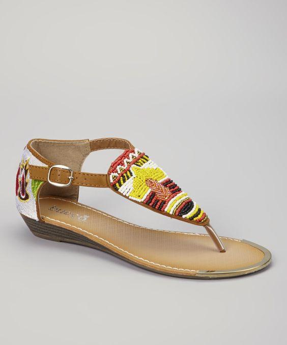 Look what I found on #zulily! Bucco Camel Gardenia Sandal by Bucco #zulilyfinds