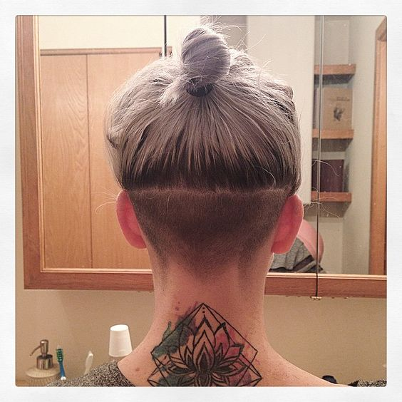 Nice star shape shaved in hair