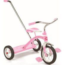 Radio Flyer Classic Pink Tricycle with Push Handle 34TP