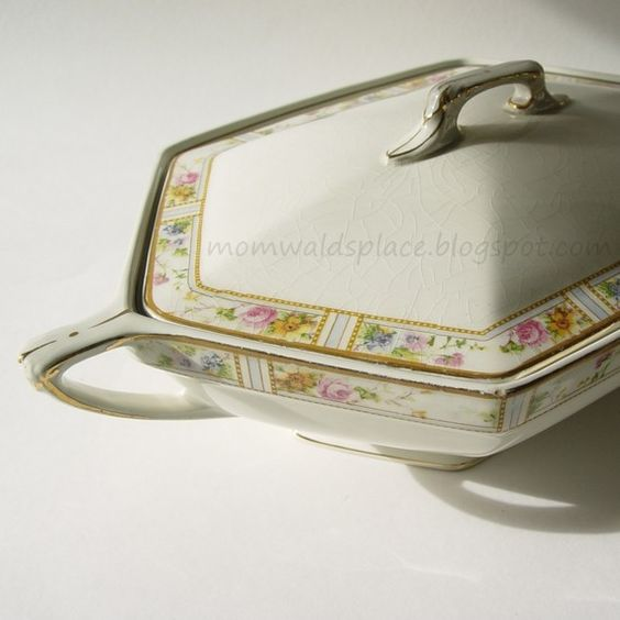 I love this !  Antique Vegetable Dish  Excelsior Carmona  by by MomWaldsPlace, $9.95